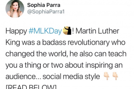 What Dr. Martin Luther King Jr. can teach us about inspiring an audience [social media style...]
